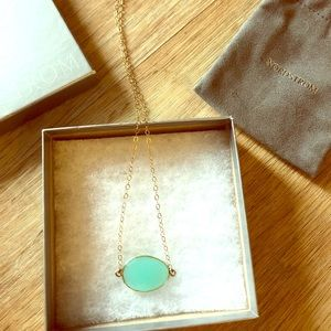 Chalcedony 14K Gold Filled Pendant Necklace